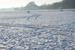 Winterlandschaft mit Silage Rundballen Landwirtschaft © Hannes Schleeh