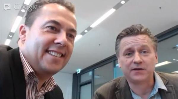 Videoblogger Gunnar Sohn und Hannes Schleeh