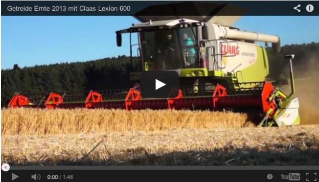 Claas Lexion 600 im Ernte-Einsatz