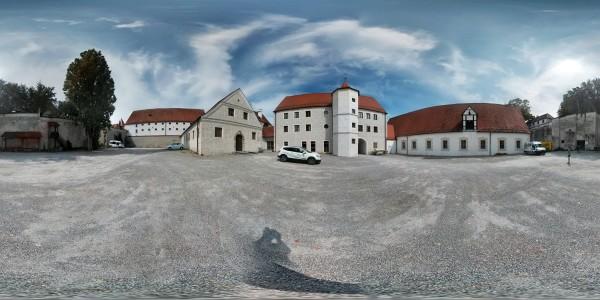 Marstallgebäude Neuburg an der Donau Hofseite