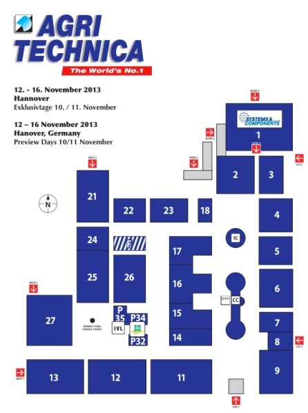 AGRITECHNICA Hallenplan 2013
