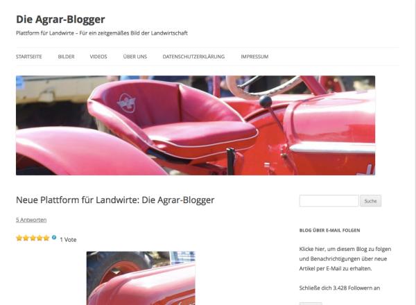 Erster Blogpost auf Agrar-Blogger.de