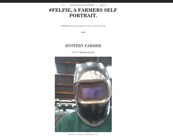 Felfie.com Webseite für Selfies von Landwirten