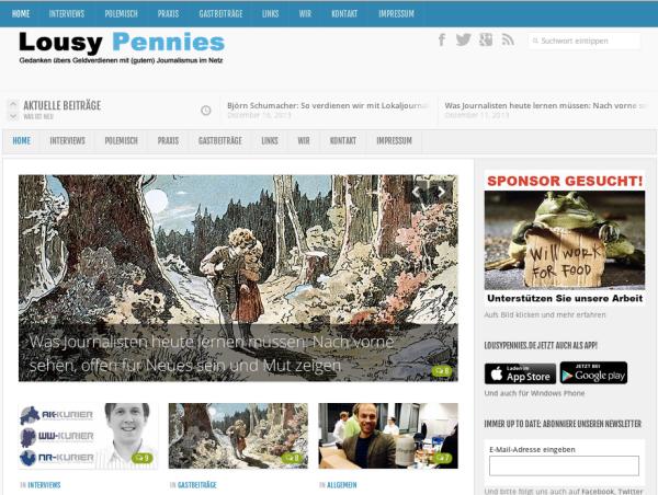 Lousypennies.de Screenshot