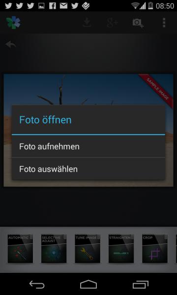 Snapseed Bild öffnen Android