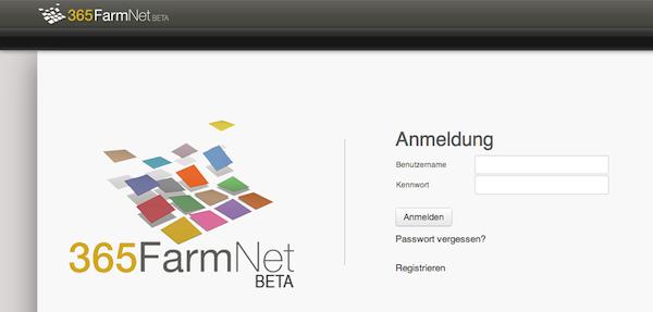 365FarmNet Startseite Screenshot