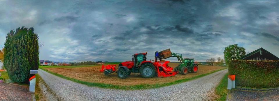 Landwirte bei der Arbeit