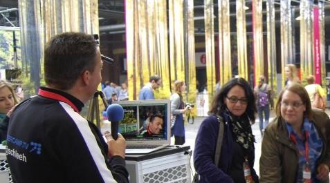 Sandra Schröder in der Livesendung von Bloggercamp.tv auf der re:publica 2014