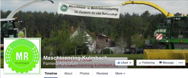 Der Maschinenring Kulmbach hat das alte Logo in der neuen Farbe und mit dem Namen im Signet seine eigene Kreation erstellt