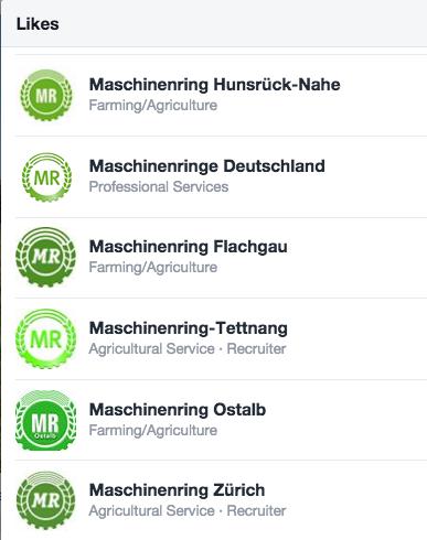 Logo Chaos Freundesliste eines Maschinenring auf Facebook