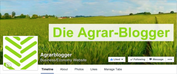 Neue Facebook Seite der Agrar-Blogger