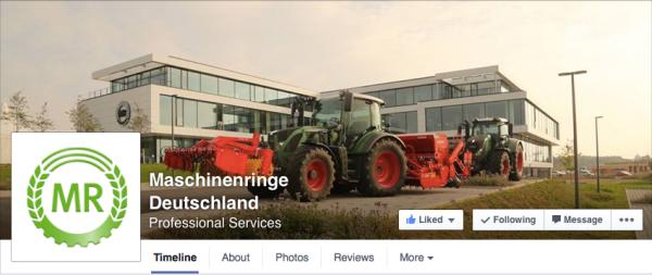 Titel der Maschinenringe Deutschland mit dem neuen Logo auch an der Hauswand